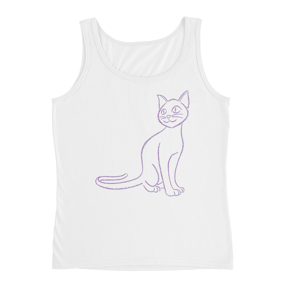 Cat Type Figure Ladies' Tank - Ink Formation