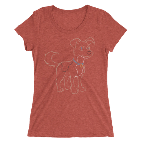 Dog Type Figure Ladies' short sleeve t-shirt - Ink Formation