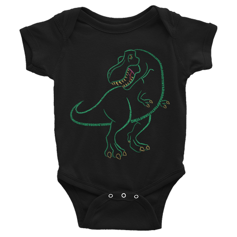 T-Rex Type Figure Infant Bodysuit - Ink Formation