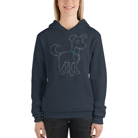 Dog Type Figure Unisex hoodie - Ink Formation