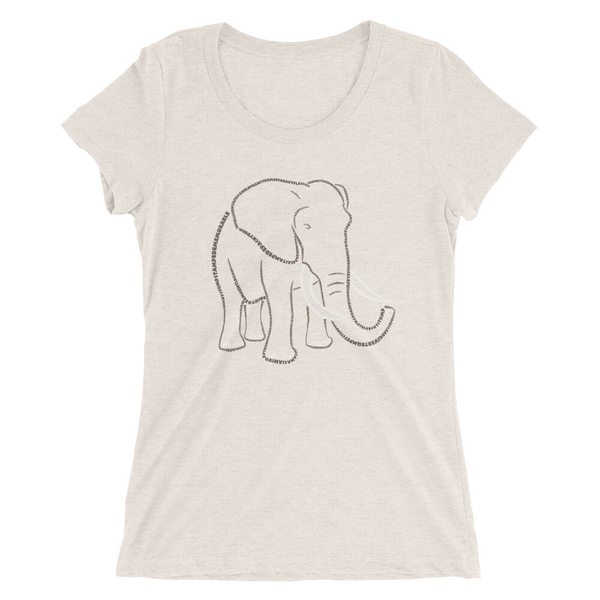 Elephant Type Figure Ladies' short sleeve t-shirt - Ink Formation