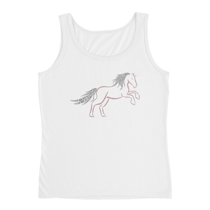 Horse Type Figure Ladies' Tank - Ink Formation