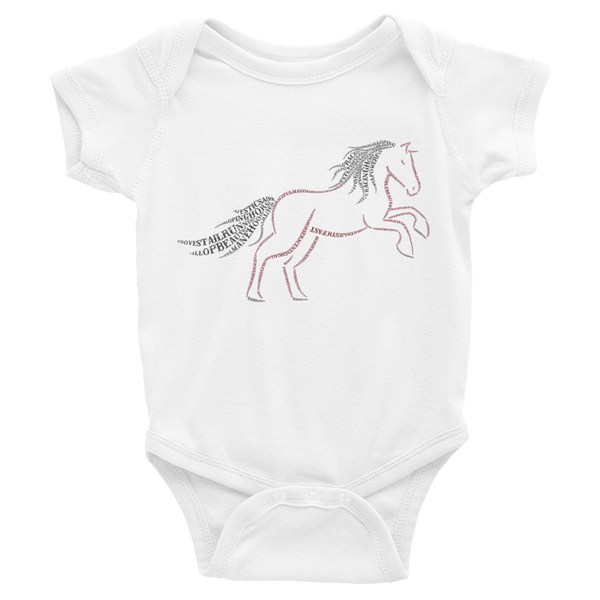 Horse Type Figure Infant Bodysuit - Ink Formation
