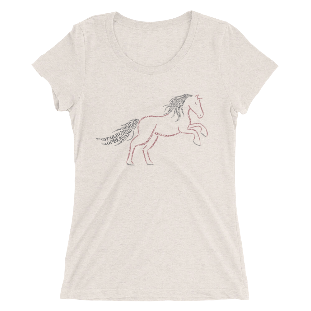 Horse Type Figure Ladies' short sleeve t-shirt - Ink Formation