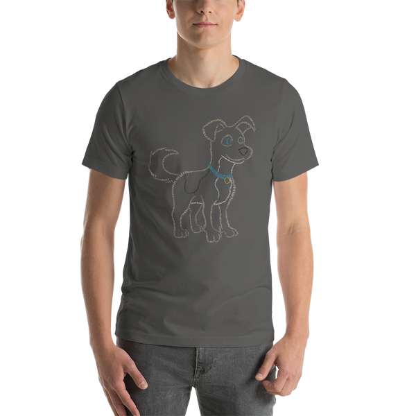 Dog Type Figure Short-Sleeve Unisex T-Shirt - Ink Formation