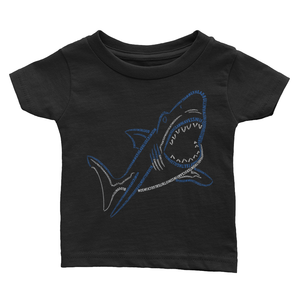 Shark Type Figure Infant Tee - Ink Formation