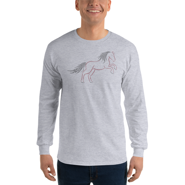 Horse Type Figure Long Sleeve T-Shirt - Ink Formation