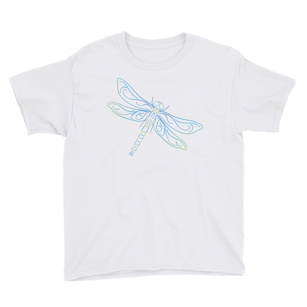 Dragonfly Type Figure Youth Short Sleeve T-Shirt - Ink Formation