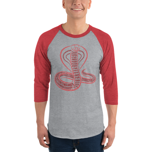 Cobra Type Figure 3/4 sleeve raglan shirt - Ink Formation