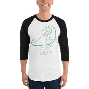 T-Rex Type Figure 3/4 sleeve raglan shirt - Ink Formation