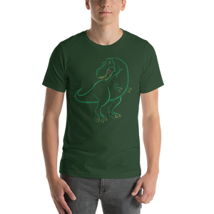 T-Rex Type Figure Short-Sleeve Unisex T-Shirt - Ink Formation