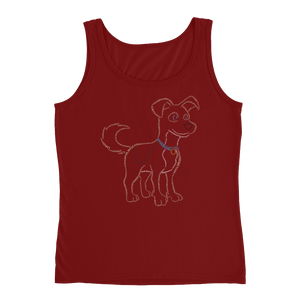 Dog Type Figure Ladies' Tank - Ink Formation