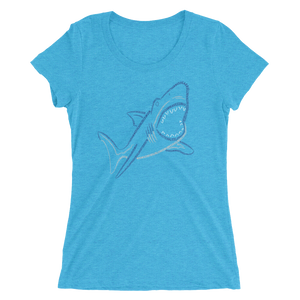 Shark Type Figure Ladies' short sleeve t-shirt - Ink Formation