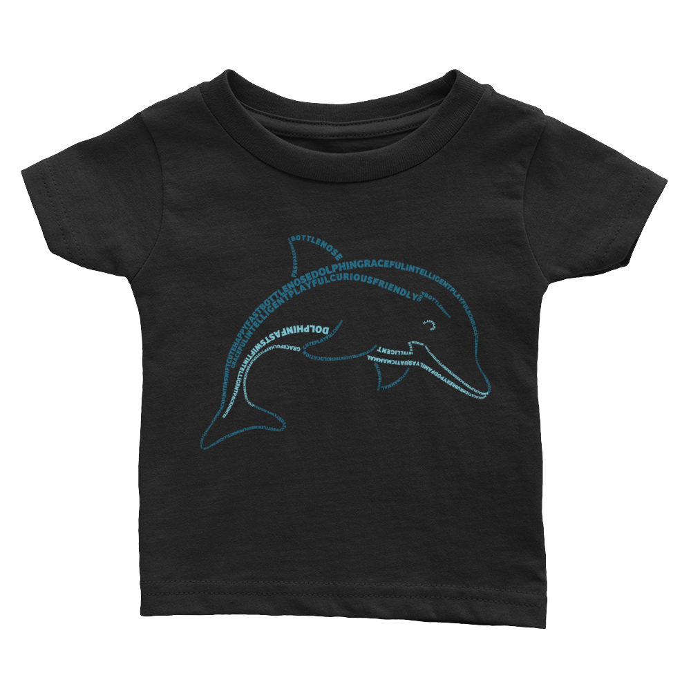 Dolphin Type Figure Infant Tee - Ink Formation