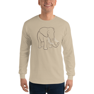 Elephant Type Figure Long Sleeve T-Shirt - Ink Formation