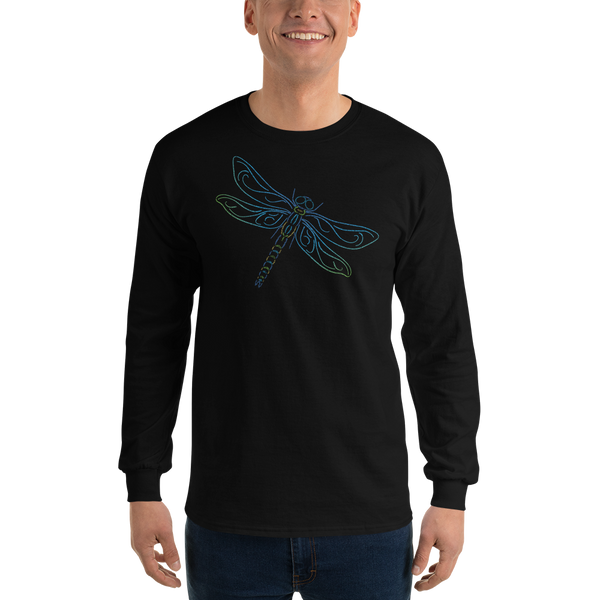 Dragonfly Type Figure Long Sleeve T-Shirt - Ink Formation