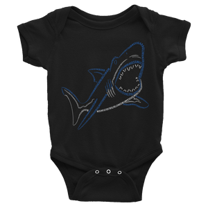 Shark Type Figure Infant Bodysuit - Ink Formation