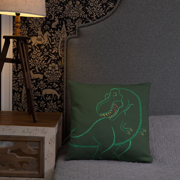 T-Rex Type Figure Pillow - Ink Formation