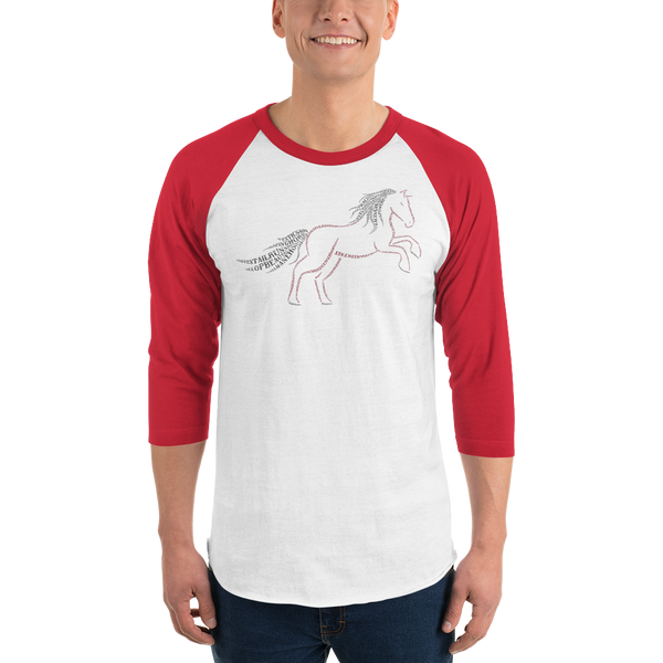 Horse Type Figure 3/4 sleeve raglan shirt - Ink Formation