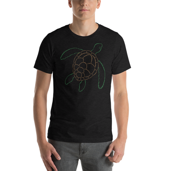 Sea Turtle Type Figure Short-Sleeve Unisex T-Shirt - Ink Formation