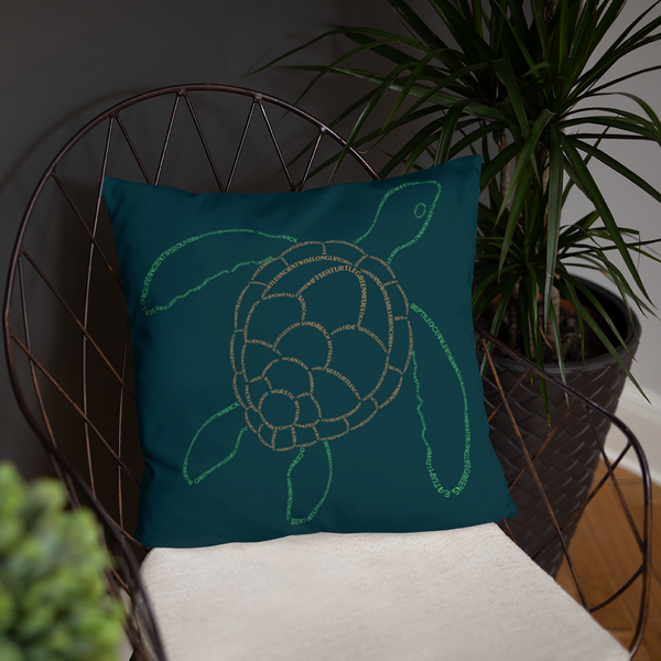 Sea Turtle Type Figure Pillow - Ink Formation