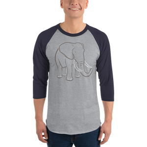 Elephant Type Figure 3/4 sleeve raglan shirt - Ink Formation