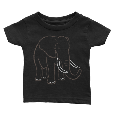 Elephant Type Figure Infant Tee - Ink Formation