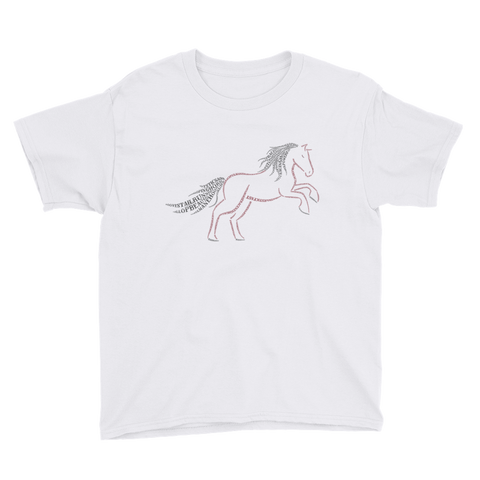 Horse Type Figure Youth Short Sleeve T-Shirt - Ink Formation