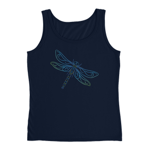 Dragonfly Type Figure Ladies' Tank - Ink Formation