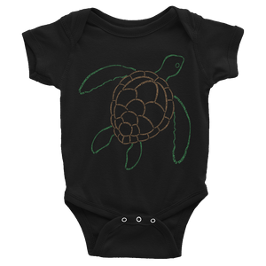 Sea Turtle Type Figure Infant Onesie - Ink Formation