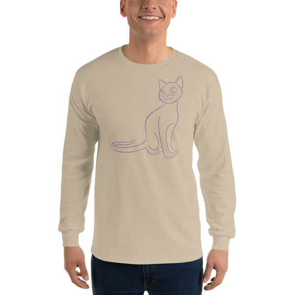Cat Type Figure Long Sleeve T-Shirt - Ink Formation