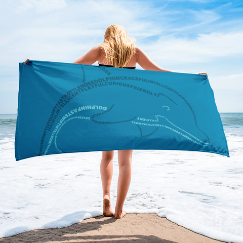 Dolphin Type Figure Towel - Ink Formation