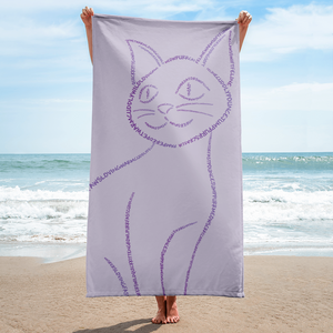 Cat Type Figure Towel - Ink Formation