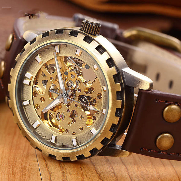 Steampunk Mechanical Luxury Watch