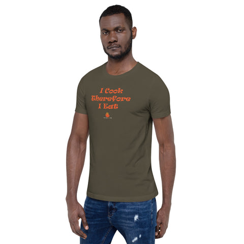 I Cook Therefore I Eat, Unisex short sleeve t-shirt