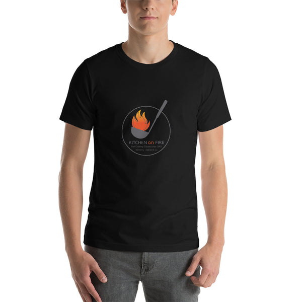 Kitchen on Fire Logo Cooking Short-Sleeve Unisex T-Shirt