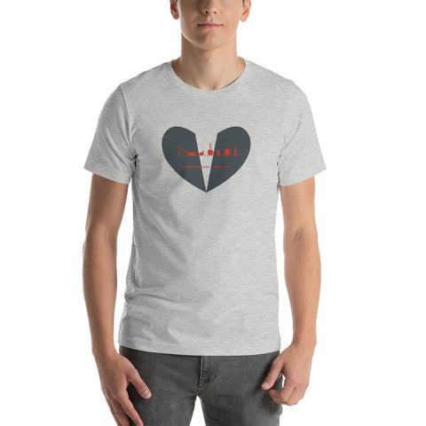 Heart Cook With Your Heart  #kitchenonfire Short-Sleeve Unisex T-Shirt