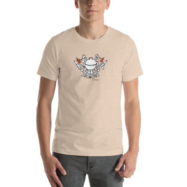 Lords of Barbecue #kitchen on fire Short-Sleeve Unisex T-Shirt