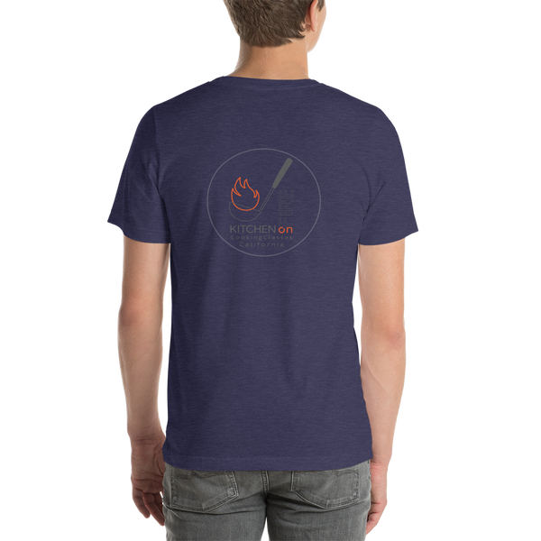 Kitchen on Fire Cooking Classes California Short-Sleeve Unisex T-Shirt