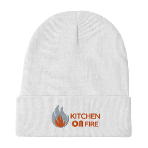 Kitchen on fire Logo Embroidered Beanie