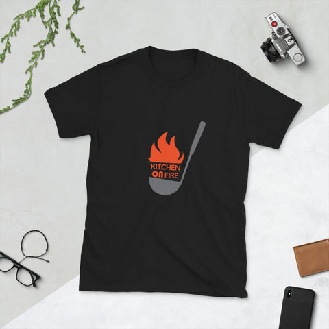 Kitchen on Fire ladle color Short-Sleeve Unisex T-Shirt