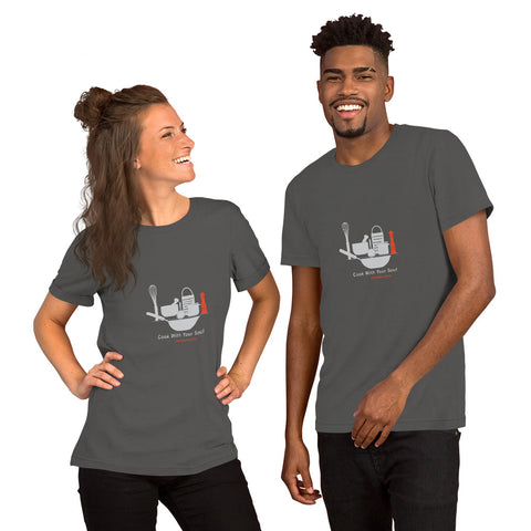 Cook with your soul kitchen on fire Short-Sleeve Unisex T-Shirt