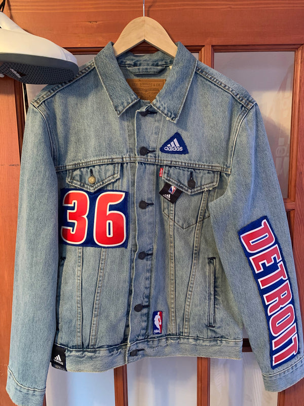 LEX Remixed Jersey Jacket (Pistons)
