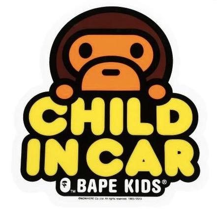 Bape Child In Car Sticker