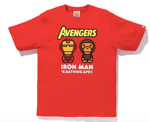 Bape X Avengers Iron Man T-Shirt (Red)