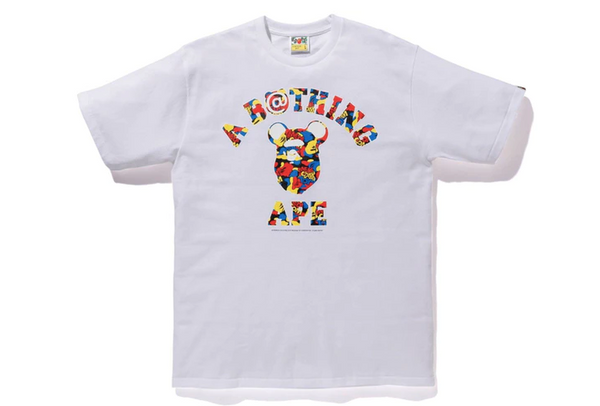 Bape X Medicom Ape Head T-Shirt (White)