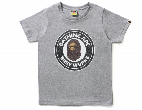 Bape Glass Beads Busy Works T-Shirt (Grey)