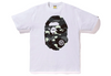 Bape Glow In The Dark Camo Head T-Shirt (White)
