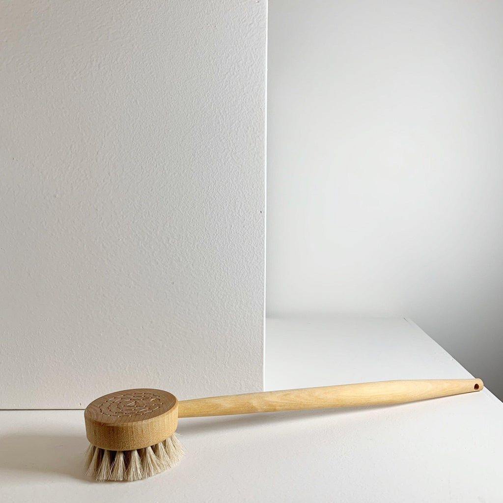 Handmade Handled Puck Bath Brush