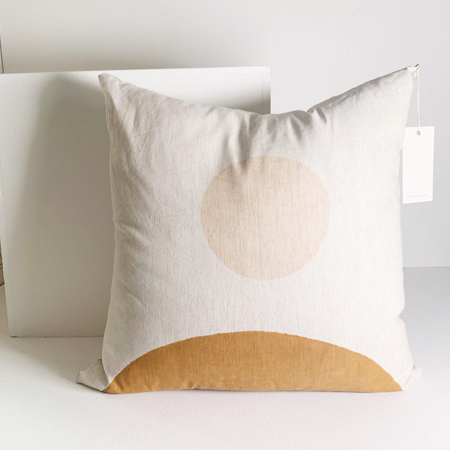 Rising Moon Block Print Pillow